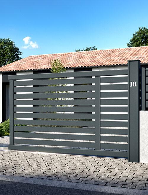 Portails aluminium Côté portail