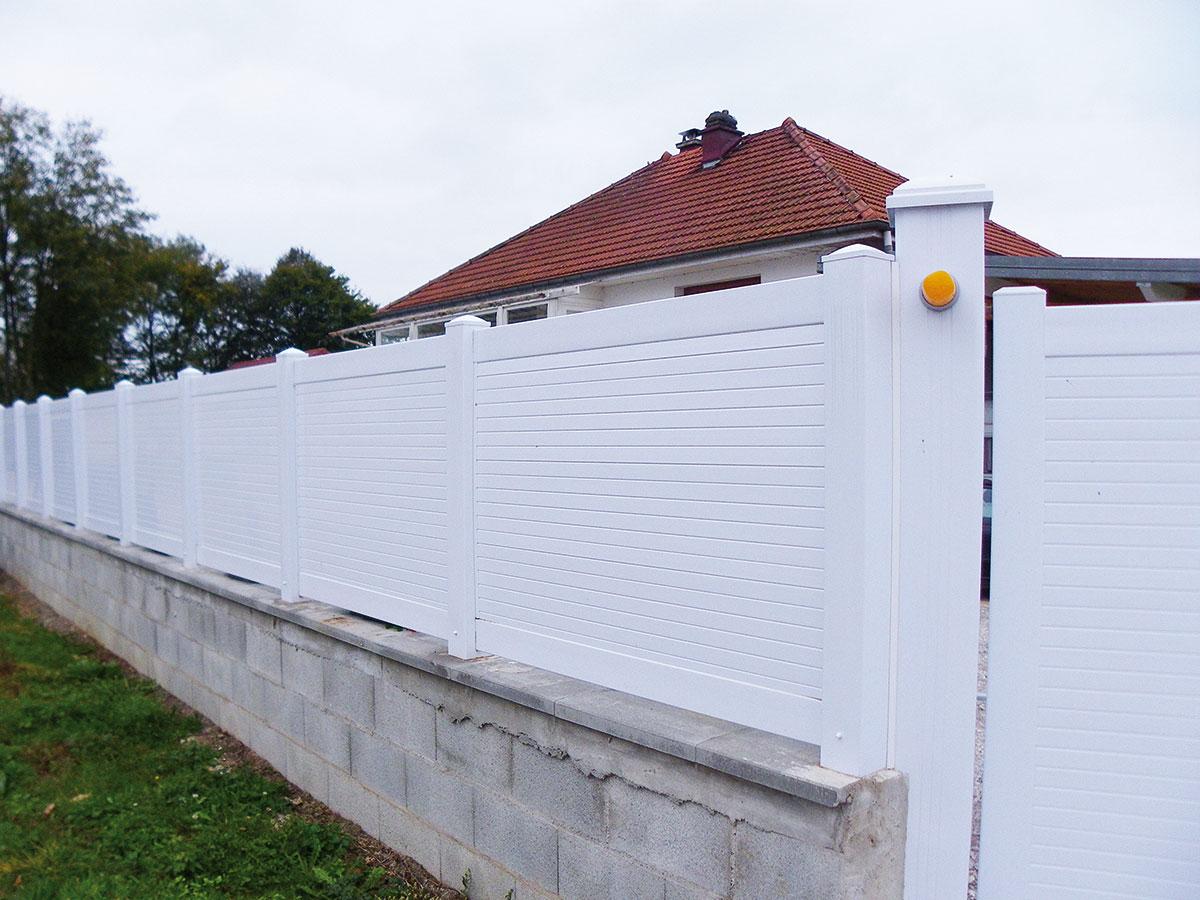 Clôture PVC Rainette
