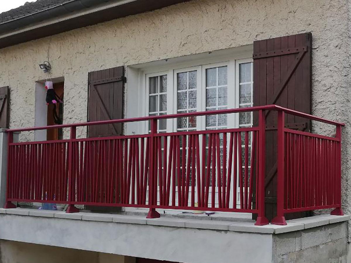 Garde-corps aluminium Hibou Côté portail