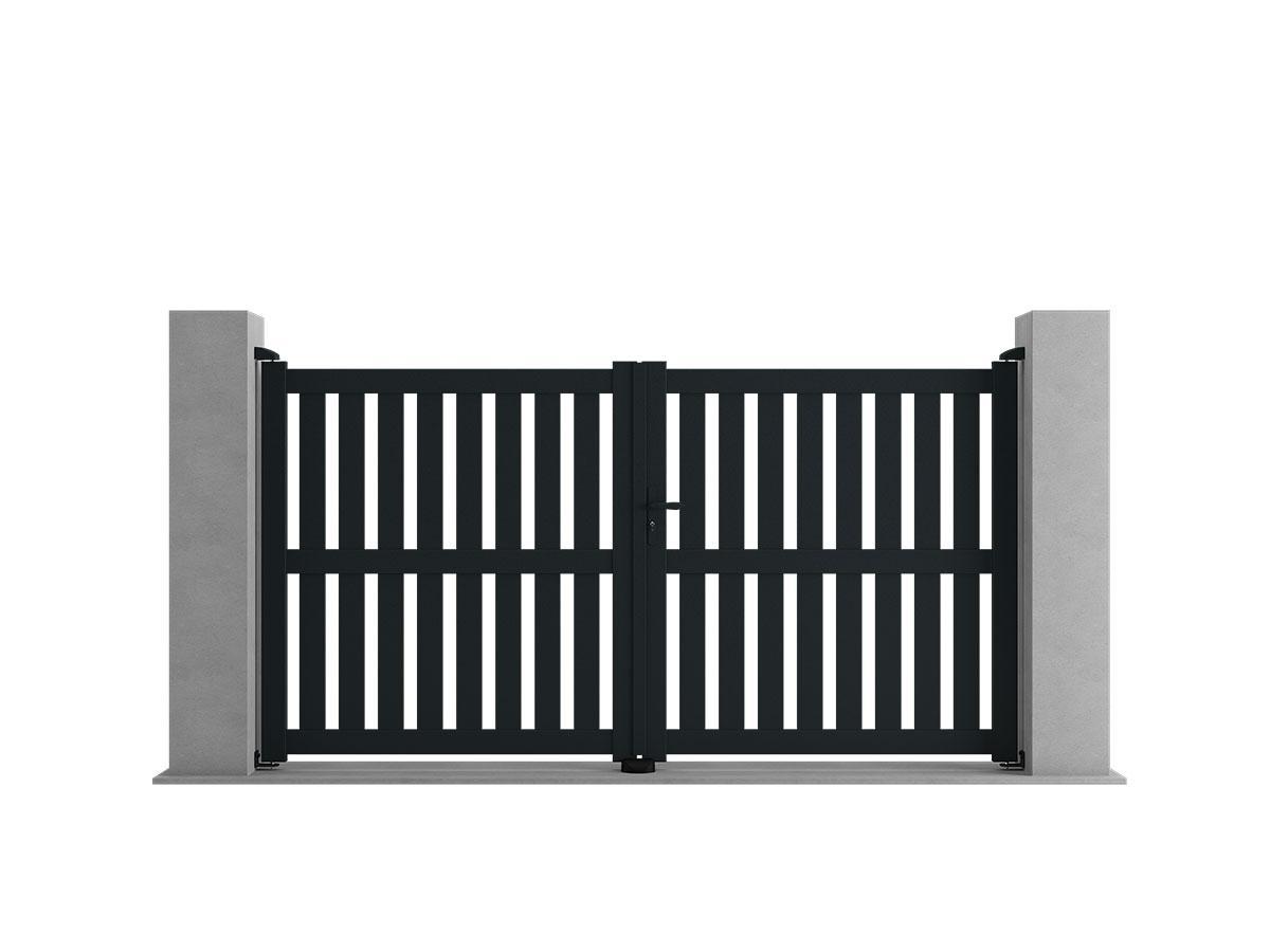 Portail aluminium Alisier Côté portail