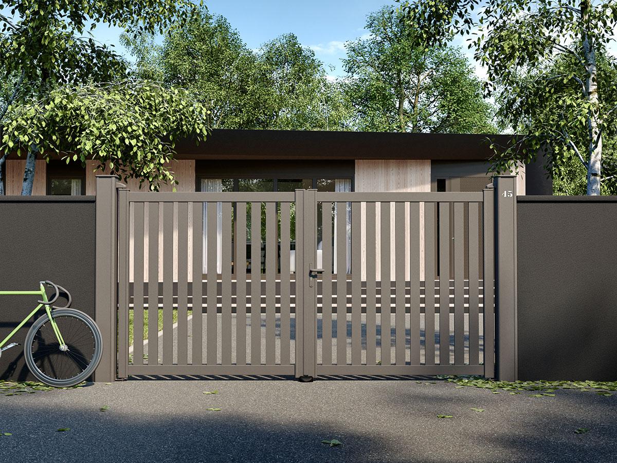 Portail aluminium Alliaire Côté portail