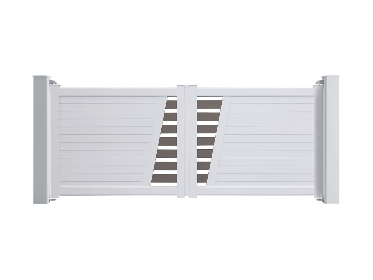 Portail aluminium Aubépine Côté portail