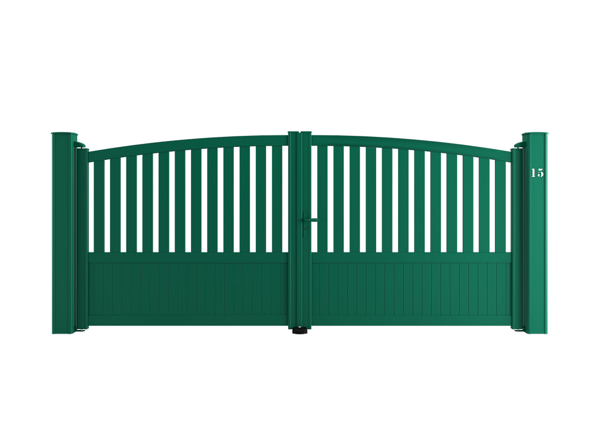 Portail aluminium Badiane Côté portail
