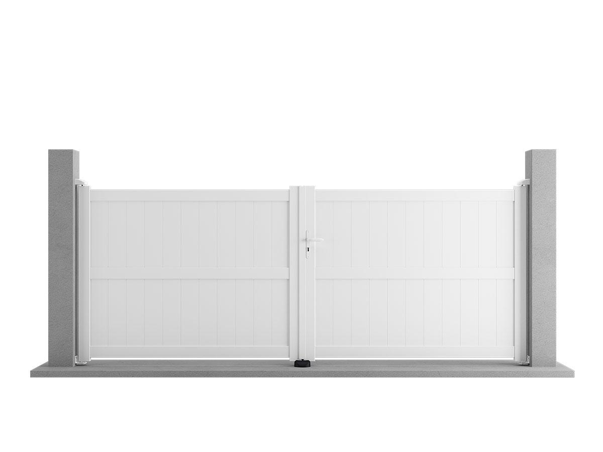Portail aluminium Bruyère Côté portail