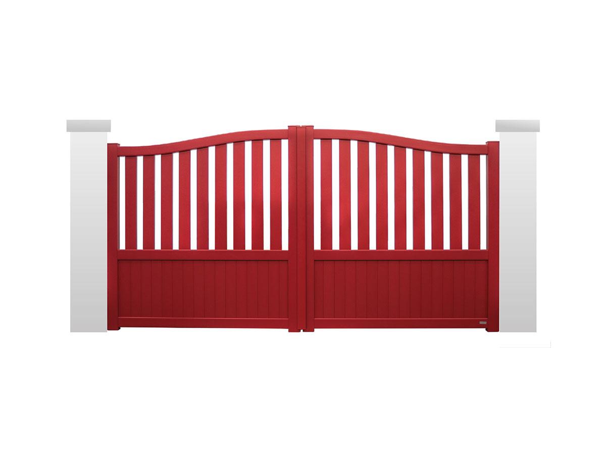 Portail aluminium Buis Côté portail