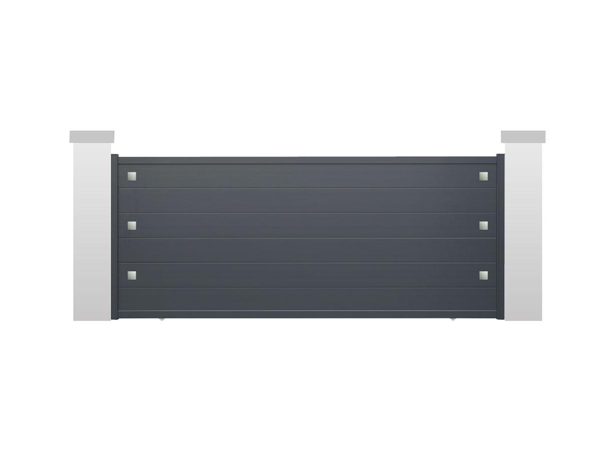 Portail aluminium Calla Côté portail