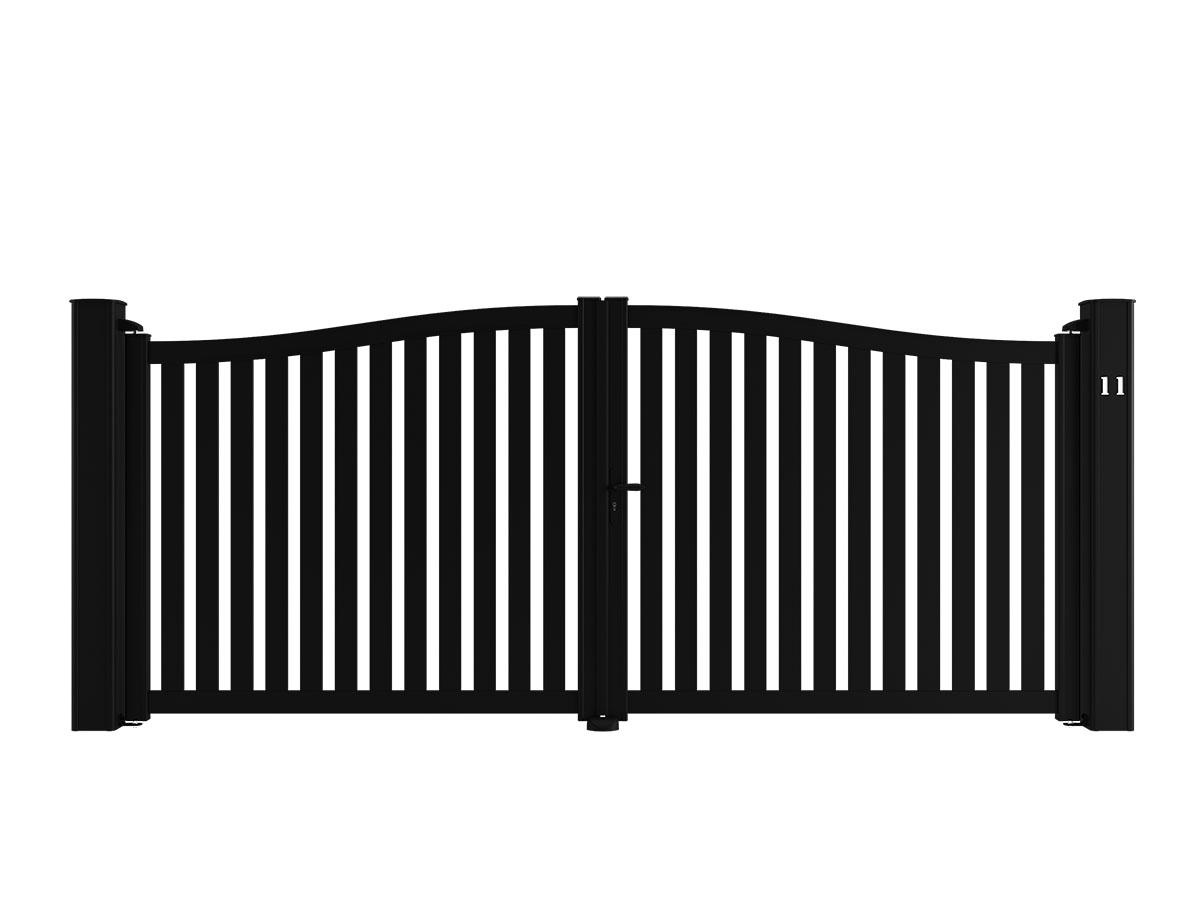 Portail aluminium Cerisier Côté portail