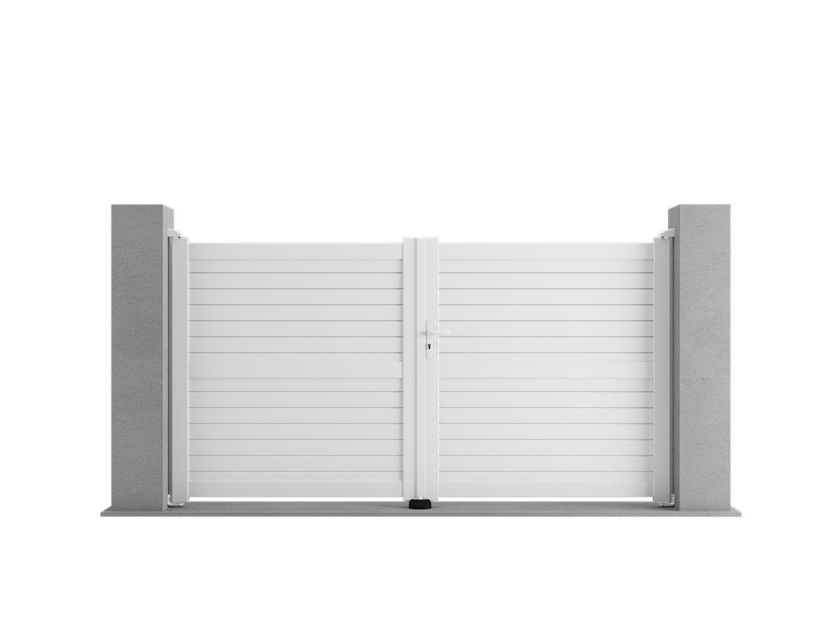 Portail aluminium Cytise Côté portail