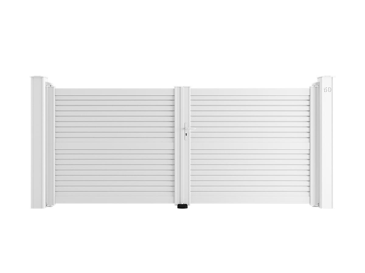 Portail aluminium Diaspore Côté portail