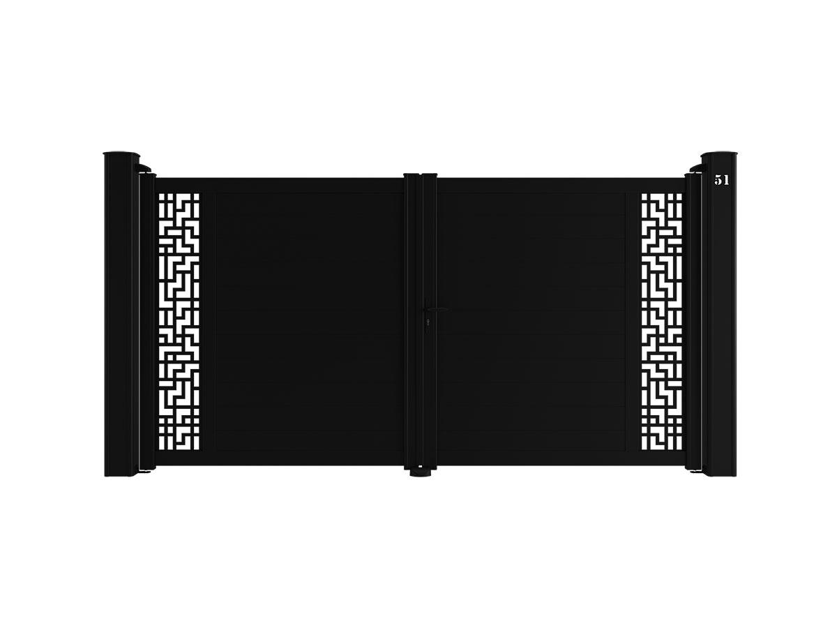 Portail aluminium Etamine Côté portail