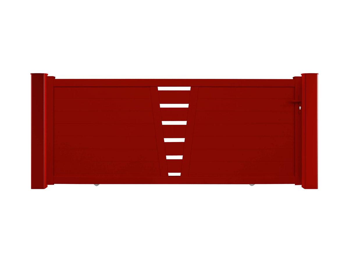 Portail aluminium Figuier Côté portail