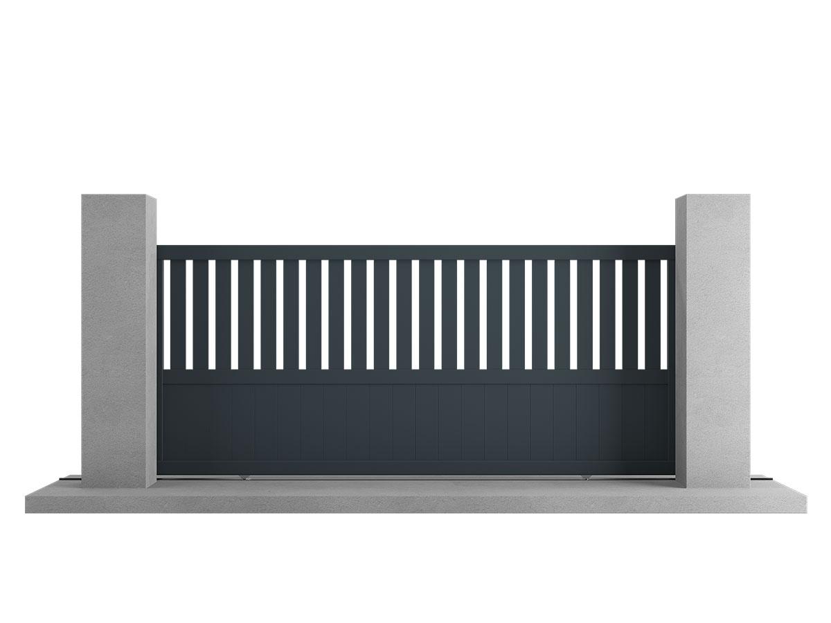Portail aluminium Ginkgo Côté portail