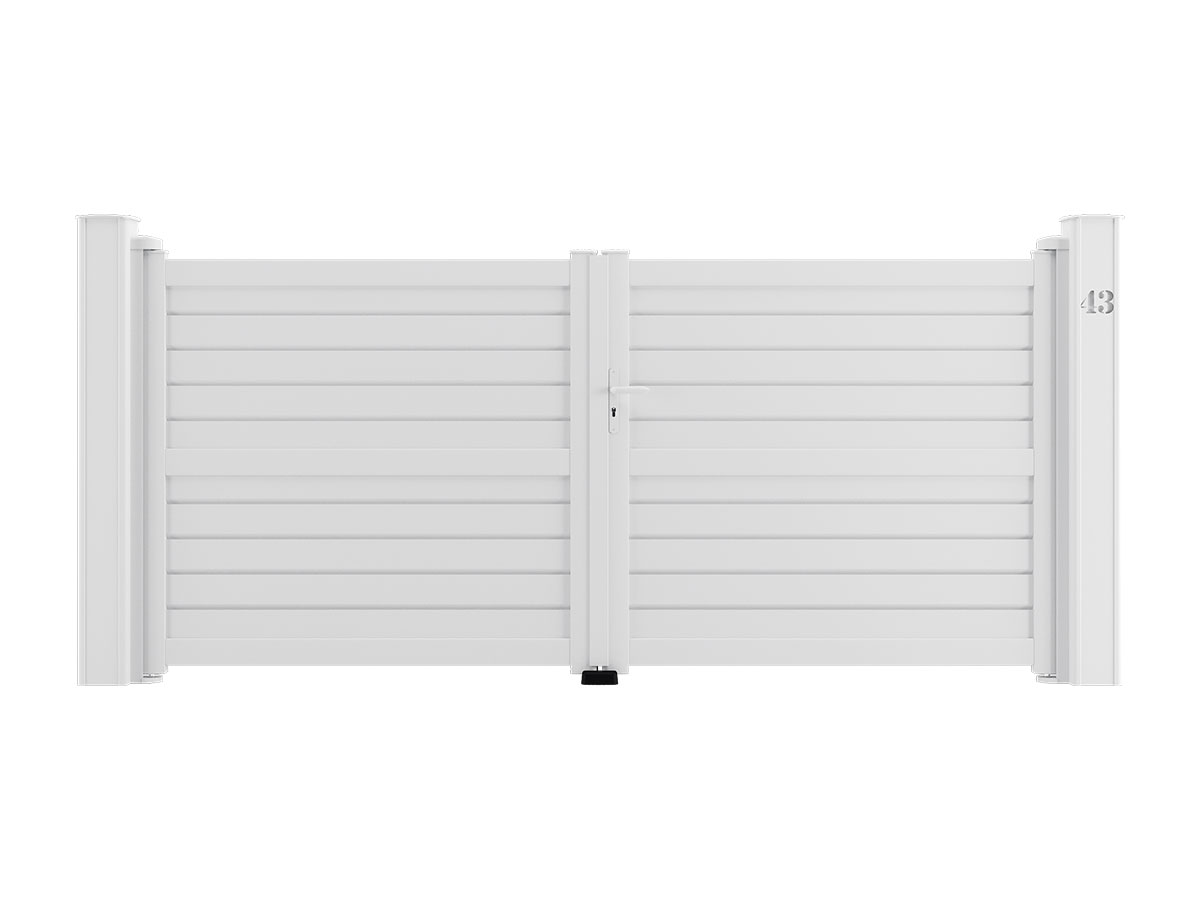 Portail aluminium Ibis Côté portail
