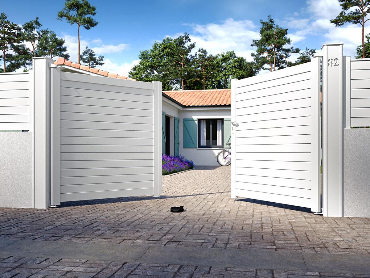 Portail aluminium Liane Côté portail
