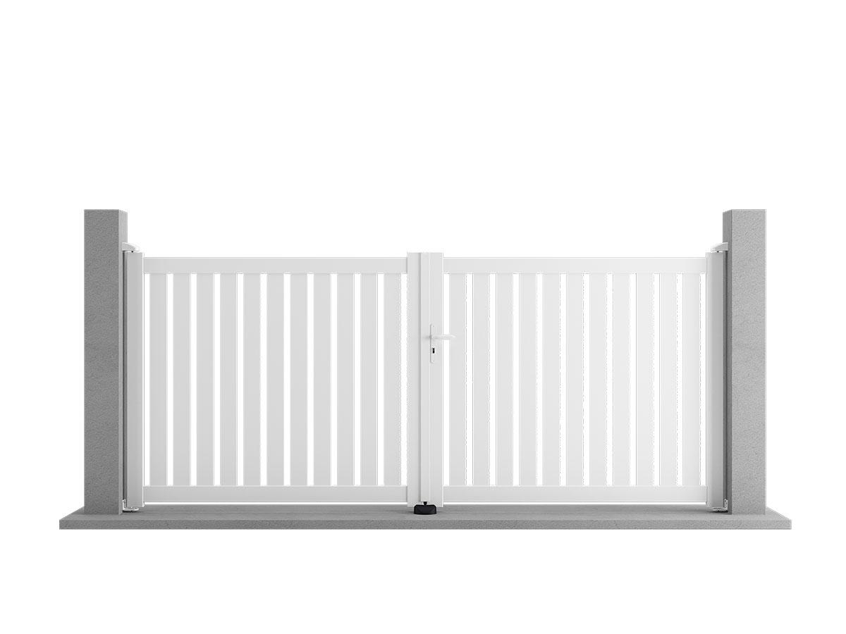 Portail aluminium Lilas de côté portail