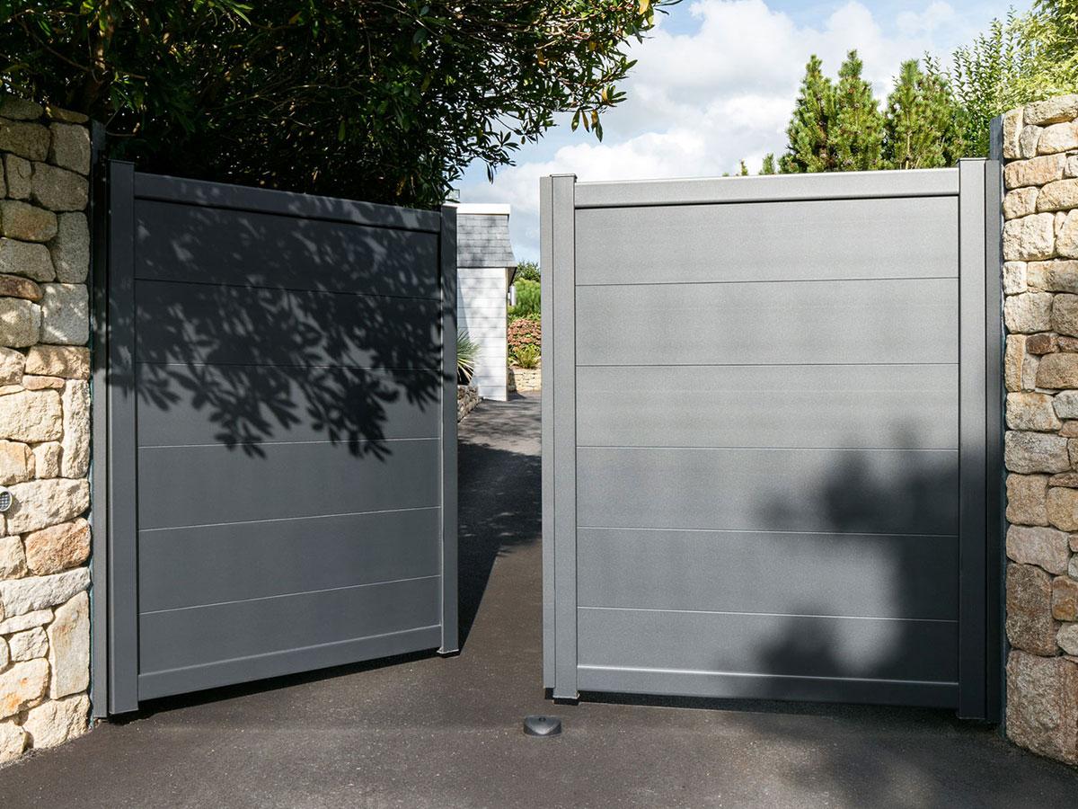 Portail aluminium Mélisse Côté portail
