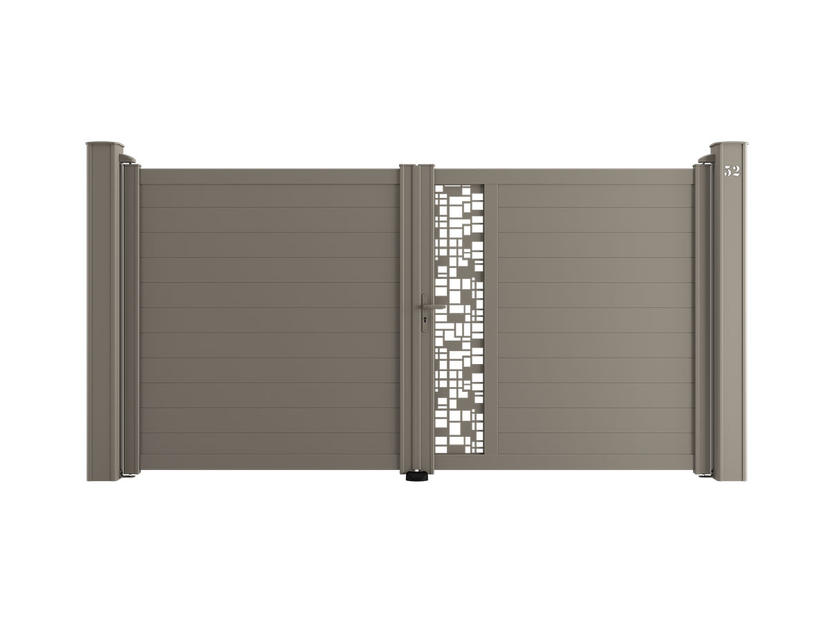 Portail aluminium Musc Côté portail