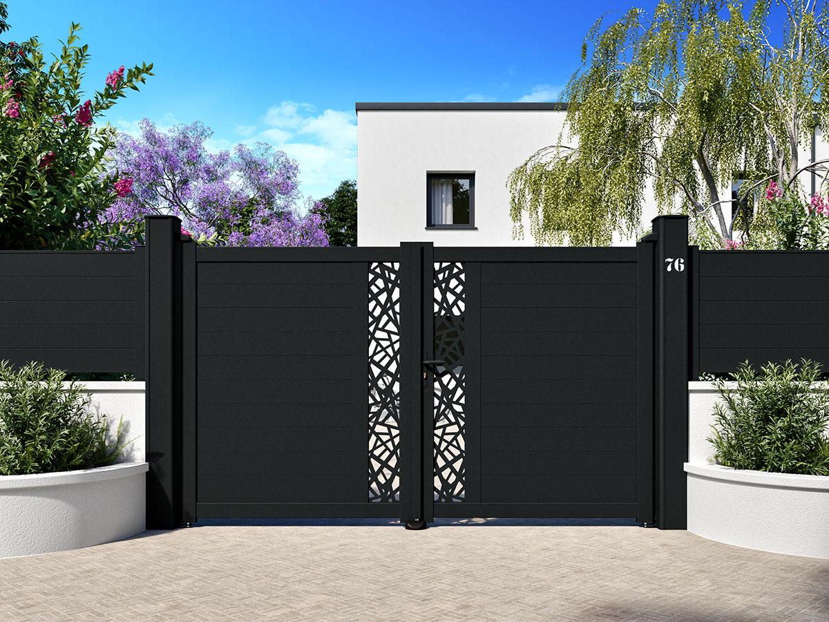 Portail aluminium Nectar Côté portail