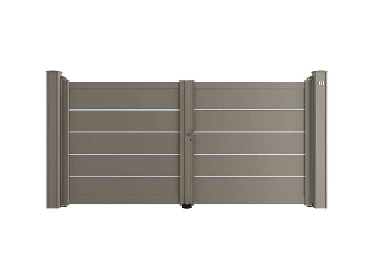 Portail aluminium Œillet Côté portail