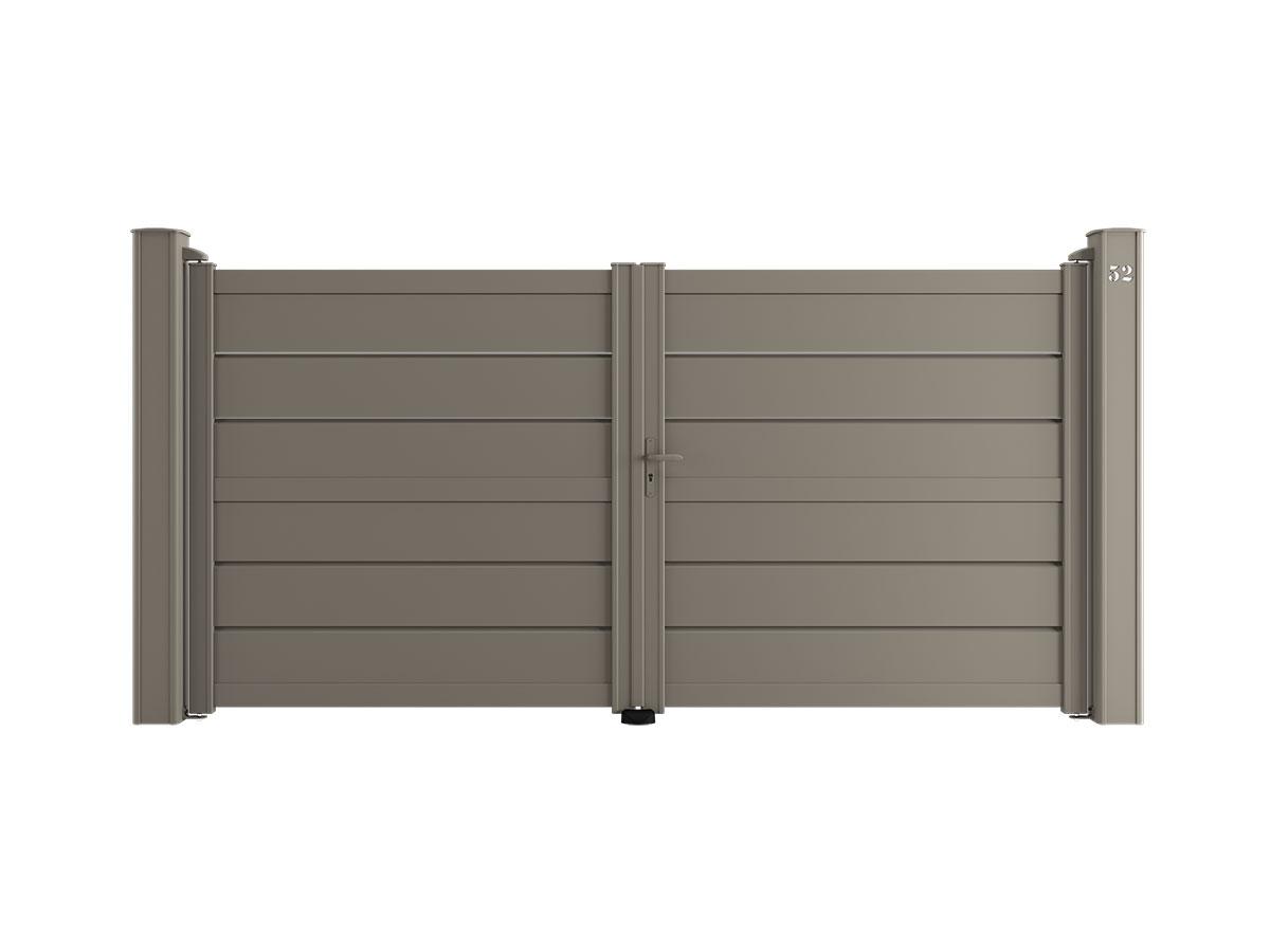Portail aluminium Penne Côté portail