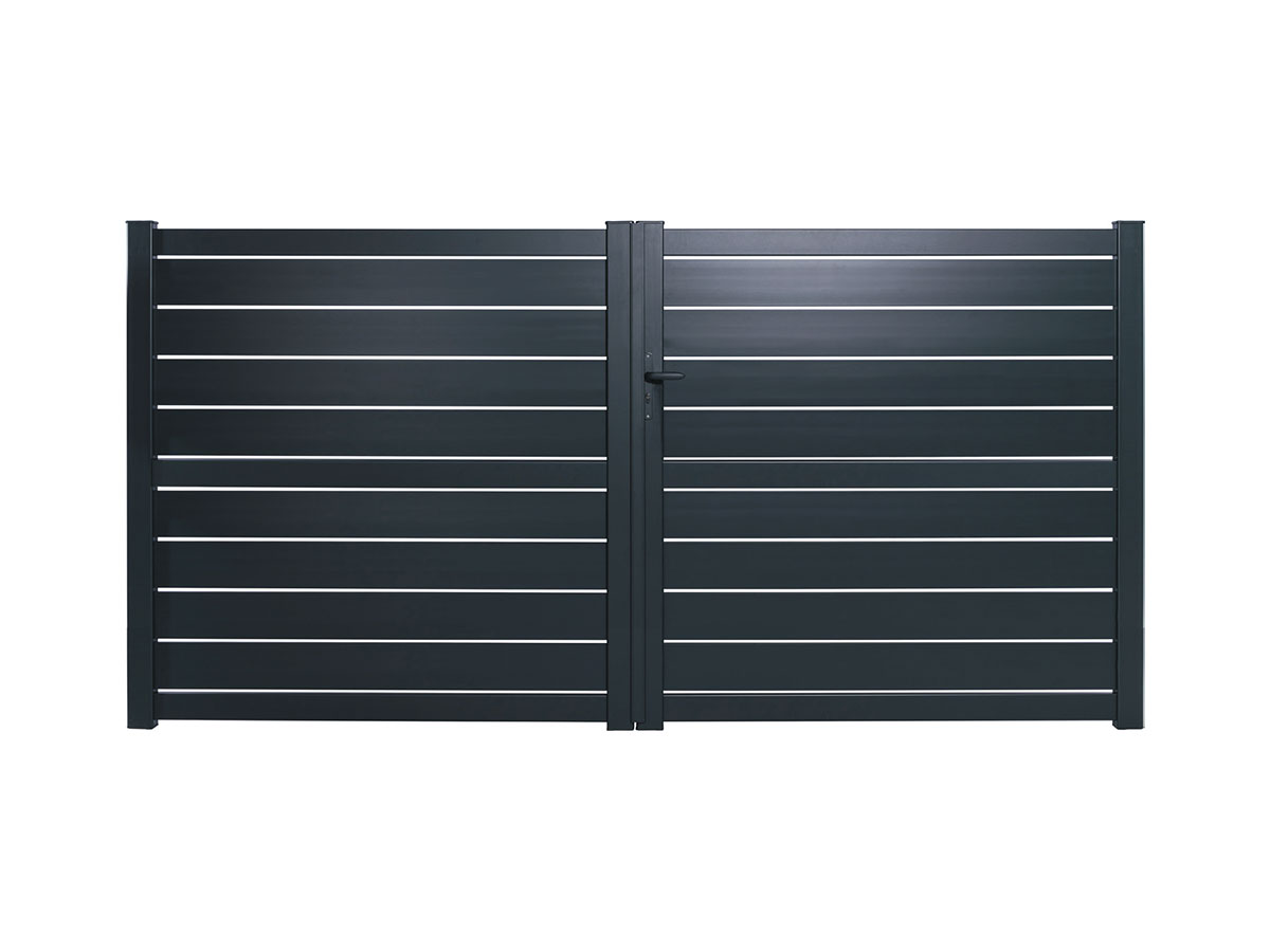 Portail aluminium Pitaya Côté portail
