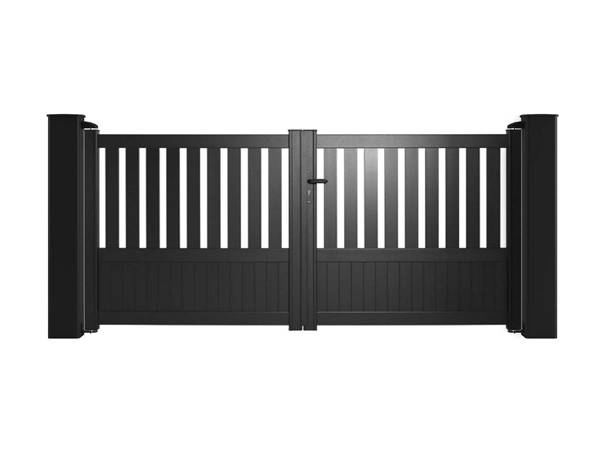 Portail aluminium Tilleul Côté portail