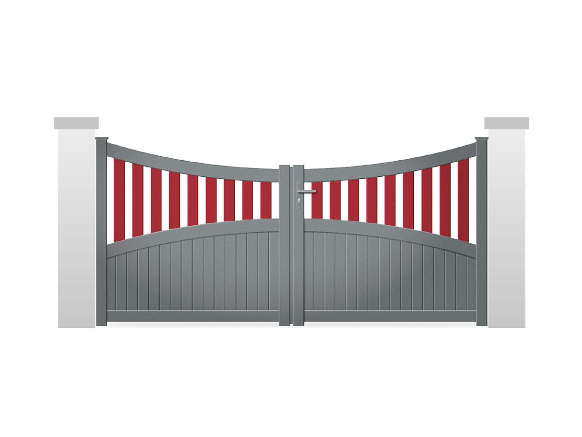 Portail aluminium Tonca Côté portail