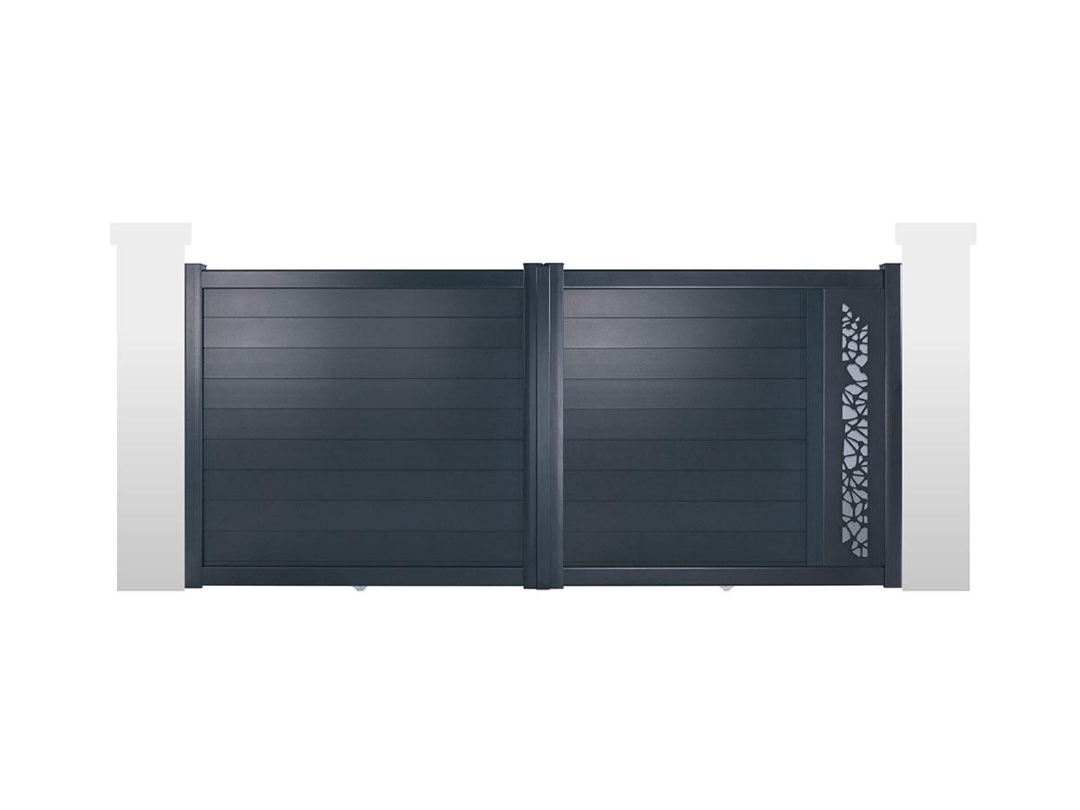 Portail aluminium Topaze Côté portail
