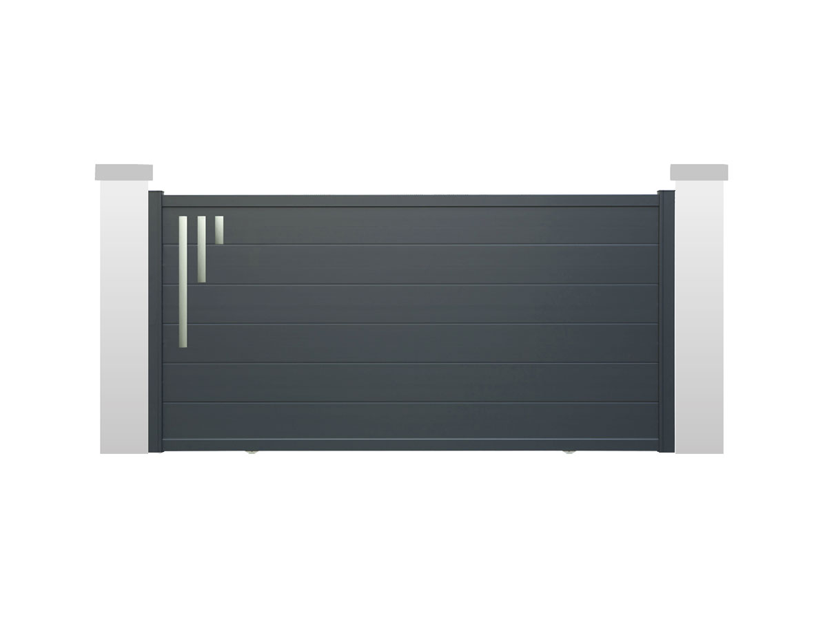 Portail aluminium Tsuga Côté portail